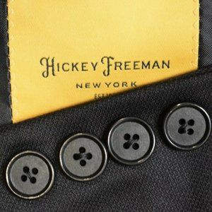 38L Hickey Freeman CURRENT Black HOPSAK Sport Coat
